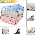 Pet Dog Cat Blanket Fleece Mat Cover Animal Large Dog Cat Soft Bed Pup Pad M & L