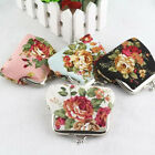 Women Small Wallet Bags Retro Flower Coin Change Purse Canvas Hasp Clutch Wallet image