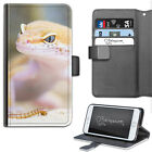 Yellow Lizard Phone Case, PU Leather Wallet Flip Case, Cover For Samsung, Apple