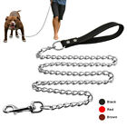 """Dog Leash Chain Dog Leads with Handle Heavy Duty Pet Puppy Strong Leashes 48"""""""