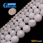"""White Jade Faceted Round Beads For Jewelry Making Free Shipping 15"""" 4mm 6mm 8mm"""