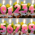 1Pc Pink Number Birthday Candle Party Kids Birthday Cake Décor Favor Ornament