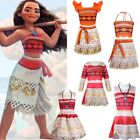 Girls Kids Moana Princess Fancy Dress Necklace Outfits Hallo