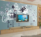 3D Birdcage Flowers 676 Wall Paper Wall Print Decal Deco Indoor Wall Mural CA