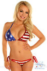 Sexy Patriotic Stars & Stripes Pucker Back Bikini
