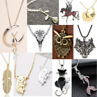 Cute Silver Chain Necklace Women Pendants Animal Choker Necklaces Jewelry Gifts