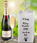 """Personalised """"The Best Dog Sitter"""" Wine Bottle Gift Bag Present Thank You"""