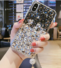 3D New handmade Bling Diamond Crystal Clear Back phone Case TPU Cover Ladies