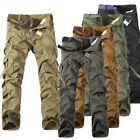 Men's Military Army Camo Cargo Pants Camouflage Overall Tactical Workwear Slacks