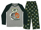 NFL Youth Green Bay Packers Two Piece Pajama Set, Green