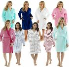 Ladies Lightweight Summer Jersey Bath Robe 100% Cotton Dressing Gown House Coat