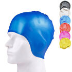 Adult Silicone Swimming Cap Cup Long Hair Stretch Waterproof Latex Bathing Ear