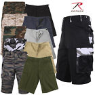Men's Solid & Camo Color Military Style Shorts - Rothco Long Length BDU Short