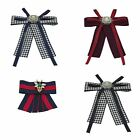 Women's Bow Pin Necktie Rhinestone Ribbon Detail Brooches Clothing Accessories