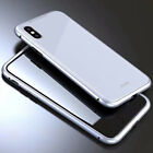 Magnetic Adsorption metal case for iPhone XS Max XR 7 8Plus Tempered Glass Cover