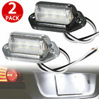 2x Universal 6-SMD LED License Plate Tag Lights Lamps for Car Truck SUV Trailer