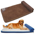 Dog Bed Soft Warm Large Dog Bed Frame Mattress Cushion for Crate Black Brown