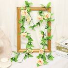 2.5m Artificial Flower Silk Rose Leaf Garland Vine Ivy Home Wedding Garden Deor