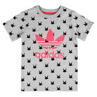 ADIDAS ORIGINALS MAGIC FOREST TEE MÄDCHEN BABY KINDER T-SHIRT WASCHBÄR GRAU ROSA