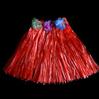 Hawaiian Grass Skirt Flower Hula Fancy Dress Adult Costume Summer Beach PartyJ