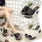 Women's Fashion High-Heeled Sandals Thick Bottom Sandals  Slippers