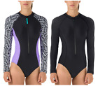 NEW!! Speedo Women's Long Sleeve 3/4 Zip One Piece Swimsuits Variety
