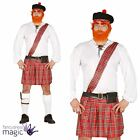 Mens Adult Tartan Scotsman Scottish Scot Burns Night Kilt Hat Fancy Dress Outfit
