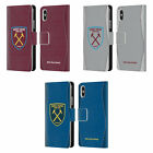 WEST HAM UNITED FC 2018/19 CREST KIT LEATHER BOOK CASE FOR APPLE iPHONE PHONES