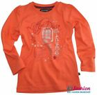 NEU Langarmshirt in Orange mit glitzerndem Print Diva Music von MINYMO 140042