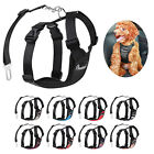 PAWABOO Pet Dog Soft Safety Mesh Vest Harness Walk Collar Strap w Car Seat Belt