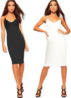 Womens Floral Crochet Lace Strappy Sleeveless Bodycon Knee Dress Ladies Party