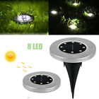 8-LED Waterproof Solar Power Under Ground Lights Outdoor Garden Yard Lamp Light