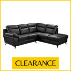 NUVOLA Compact RHF Righ-Hand 5 Seater L Shape Leather Corner Sofa CLEARANCE