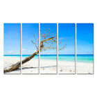 5 Panel Printed Painting Canvas Art Beach painting Home Decor wall pictures