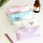 Unicorn Pencil Case Kawaii School Supplies PU Cosmetic Pouch Stationery Zip Bag