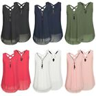 Sexy Womens Summer Chiffon Sleeveless Vest Shirt Blouse Ladies Top Size S-5XL 02