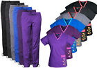 Medgear Women  s Stretch Scrubs with Embroidery Scrubs Set Medical Uniform 7902