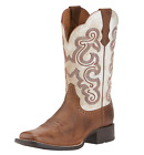 Ariat Womens Quickdraw Square Toe Cowgirl Boots