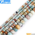 Natural Mix-color Amazonite Gemstone Rondelle Spacer Beads Jewelry Making 15""