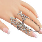 Fashion Womens Multiple Finger Stack Knuckle Band Crystal Ring Jewelry Gift HOT