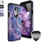 For LG Stylo 5,Stylo 4,Stylo 4 Plus Case, Dual Layer Rubber Design Phone Cover
