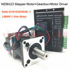Gear Stepper Motor L56mm 3A 4Wire Nema23 Planetary Gearbox Reducer + 4.2A Driver