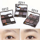 3color eyebrow powder palette cosmetic eye shadow with brush