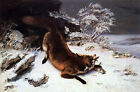 Photo/Poster - Fox In Snow - Gustave Courbet 1819 1877