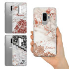 PERSONALISED NAME BEAUTIFUL ROSE GOLD LACE  MARBLE HARD PHONE CASE FOR SAMSUNG