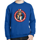 America Hell Yeah Kids Sweatshirt Uncle Sam Patriotic Stars Long Sleeve - 2024C