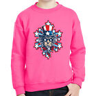 Uncle Sam's Explosion Kids Sweatshirt USA Patriotic Hat Long Sleeve - 2098C
