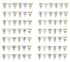 RAINBOW STRIPE DOTS FLAG BUNTING BIRTHDAY  AGELESS 1 2 3 4 5 6 7 8 9 10 11 12 13