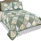 Maya Reversible Patchwork Quilt With Ruffled Edge, by Collections Etc image