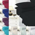 Plain Dyed Fitted Bed Sheets Polly Cotton Best Quality Bedding in All Sizes